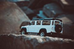 Discovery Trip. Of allroad jeep which conquers mountains stock photography