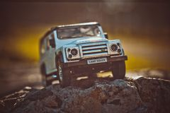 Discovery Trip. Of allroad jeep which conquers mountains royalty free stock photos