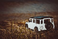 Discovery Trip. Of allroad jeep which conquers mountains royalty free stock images