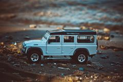 Discovery Trip. Of allroad jeep which conquers mountains royalty free stock photo