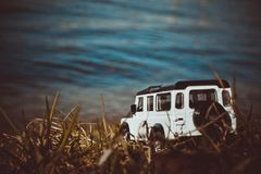 Discovery Trip. To the ocean of allroad jeep stock photography