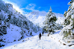 Discovery walks in winter. Taurus Mountains region.Konya/Turkey stock images