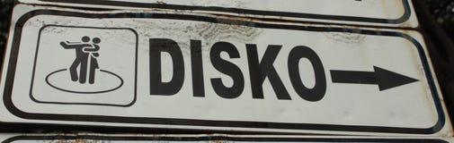 Discozeichen Stockbild
