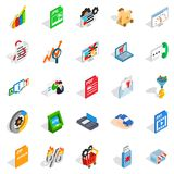 Discreditable practices icons set, isometric style. Discreditable practices icons set. Isometric set of 25 discreditable practices vector icons for web  on white Stock Photos