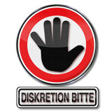 Discretion please Stock Photo