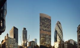Discrict financier de Londres. Photographie stock libre de droits