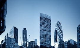 Discrict financier de Londres. Photo stock
