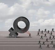 Discriminação do sexismo Foto de Stock