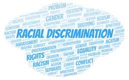 Discriminação racial - tipo de discriminação - nuvem da palavra ilustração royalty free