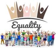 Discriminação racista Conce dos direitos fundamentais da equidade da igualdade imagens de stock