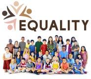 Discriminação racista Conce dos direitos fundamentais da equidade da igualdade fotografia de stock royalty free