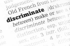 Discriminate  Dictionary Definition Stock Photography