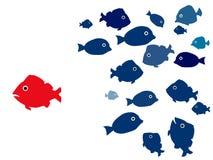 Discrimination. Concept fish illustration isolated royalty free illustration