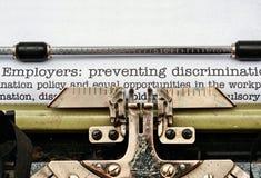 Discrimination d'employeurs illustration stock