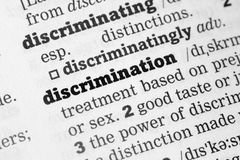 Discrimination  Dictionary Definition Royalty Free Stock Image