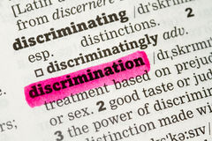 Discrimination  Dictionary Definition Royalty Free Stock Images