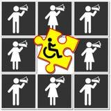 Discrimination of disabilities royalty free illustration
