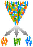 Discrimination. Or dividing the population according certain criteria royalty free illustration