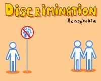 Discrimination: homophobia. An illustration of homophobia discrimination royalty free illustration