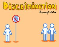 Discrimination : homophobie Photos stock