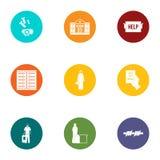 Discrimination icons set, flat style. Discrimination icons set. Flat set of 9 discrimination vector icons for web isolated on white background stock illustration