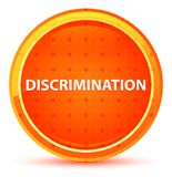 Discrimination Natural Orange Round Button vector illustration