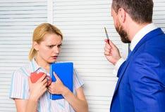 Discrimination and personal attitude problem. Discrimination concept. Prejudice and personal attitude to employee. Tense. Conversation or quarrel between stock photos