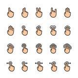 Discrimination raciale ensemble d'icône des gestes de contact illustration de vecteur