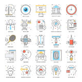 Discrimination raciale plate icônes 20 Images libres de droits