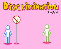 Discrimination : racisme Photos stock