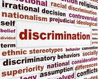 Discrimination social issue concept Royalty Free Stock Image