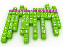 Discrimination in word cloud Royalty Free Stock Photos