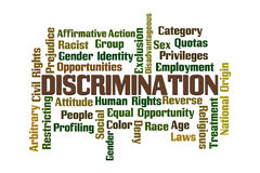 Discrimination. Word Cloud on White Background Stock Photography