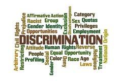 Discrimination. Word Cloud on White Background vector illustration