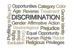 Discrimination Word Cloud Royalty Free Stock Images