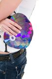 Discs in hand Royalty Free Stock Images