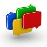 Discurso da bolha Imagem de Stock