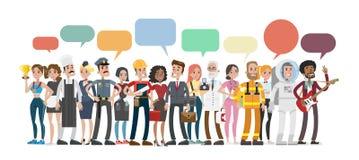 Discurso da bolha das profissões ilustração do vetor