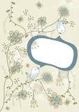 Discurso da flor do pássaro ilustração do vetor