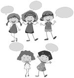 Discurso das crianças Foto de Stock