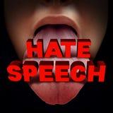 Discurso de ódio ilustração royalty free