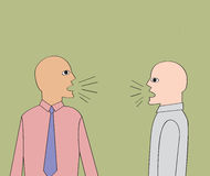 Discurso de dois homens de negócios ilustração do vetor