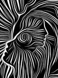 Discurso de líneas internas ilustración del vector