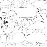 Discurso de la burbuja Fotografía de archivo