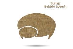 Discurso de la burbuja Fotografía de archivo libre de regalías