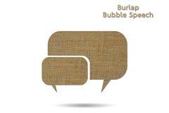 Discurso de la burbuja Foto de archivo