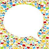 Discurso de la burbuja con los iconos de la gente stock de ilustración