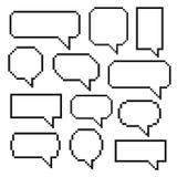 Discurso de la burbuja del pixel ilustración del vector