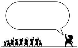 Discurso de la celebridad vacío stock de ilustración