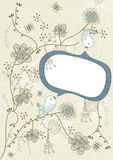 Discurso de la flor del pájaro Foto de archivo libre de regalías